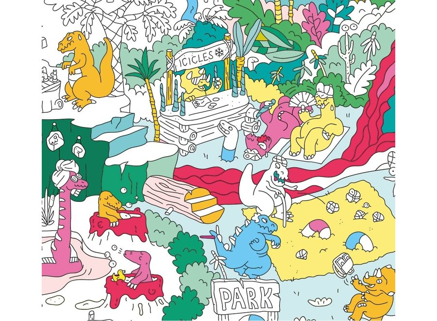 Coloring Poster Dinos