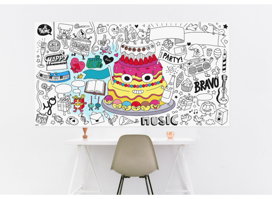 Giant Coloring Poster Fiesta XXL