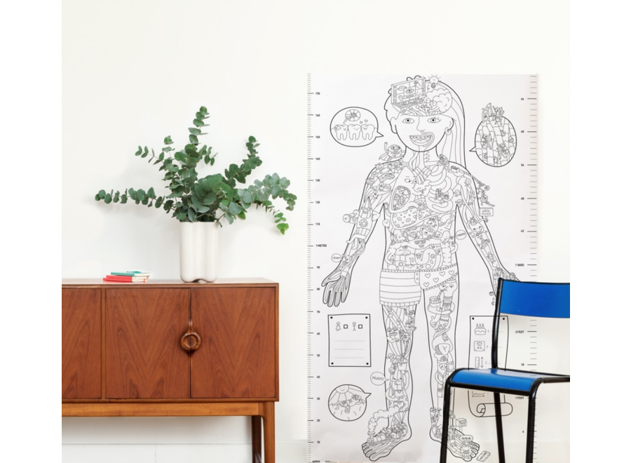 Giant Coloring Poster My Body XXL
