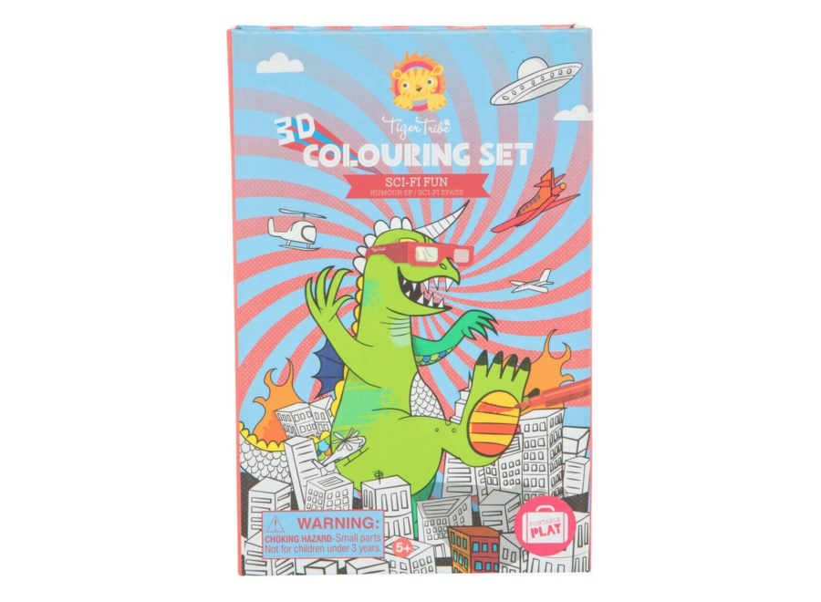 3D Colouring Sets/Sci-Fi Fun
