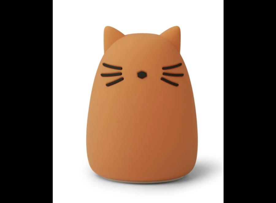 Winston Night Light Cat Mustard