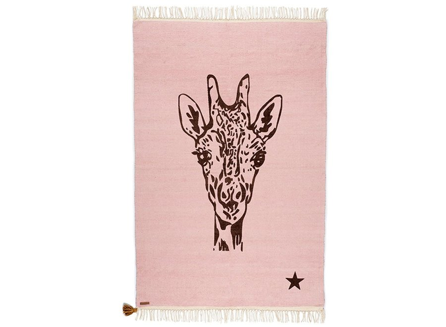 Rug Cotton Giraffe Pink