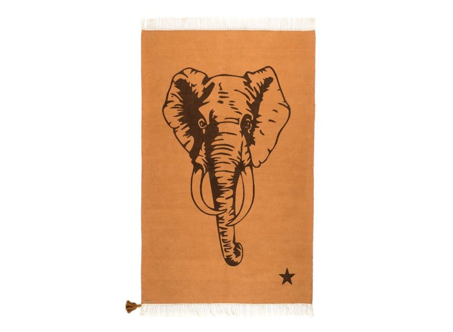 Rug Cotton Elephant Brown