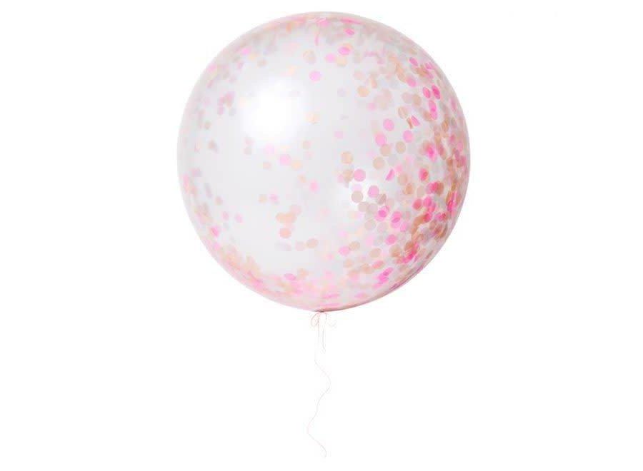 Giant Pink Balloons Confetti Kit