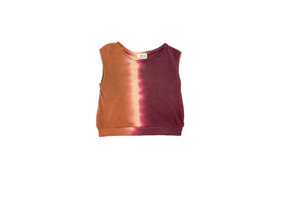 Sleeveless Tee Canyon Tie and Dye