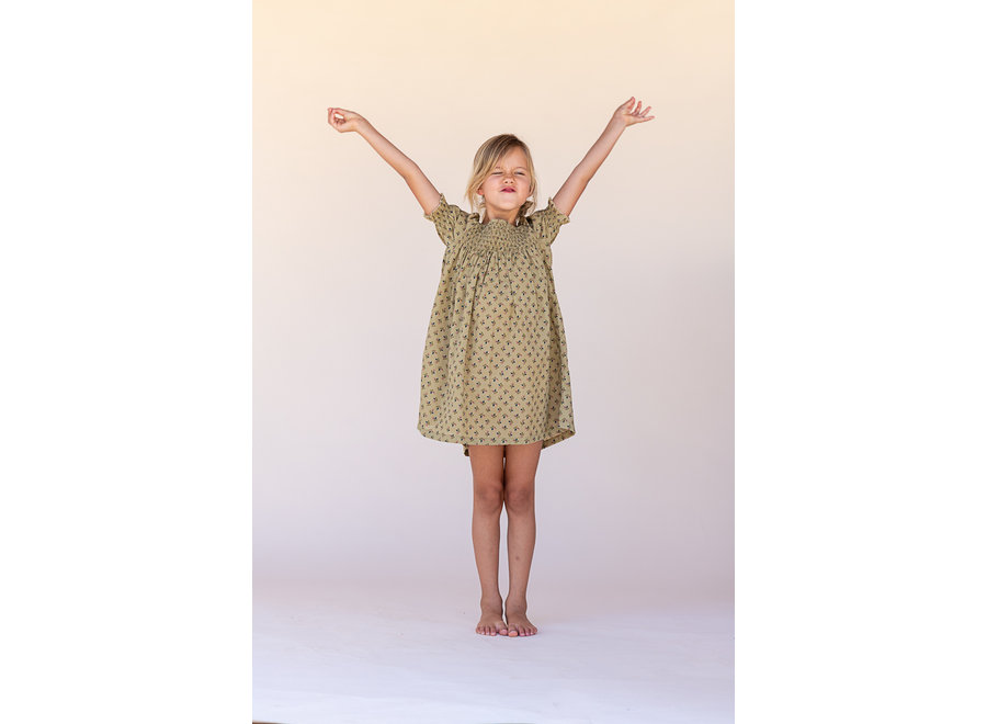 Long Live The Queen Babydoll Dress Sage