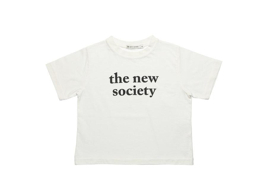 The New Society The New Society Tee Off White