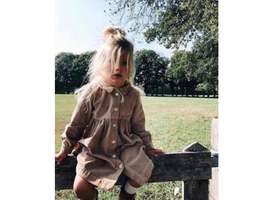 Daily Brat Brooke Dress Corduroy Khaki