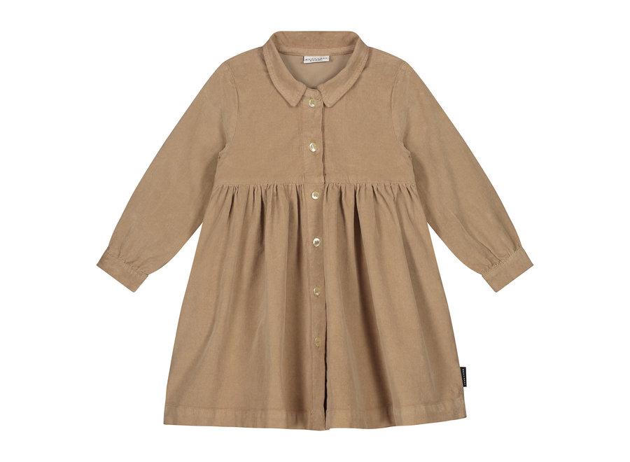 Brooke Dress Corduroy Khaki