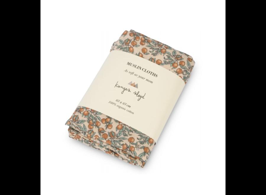 Konges Sløjd 3-Pack Muslin Cloth Orangery