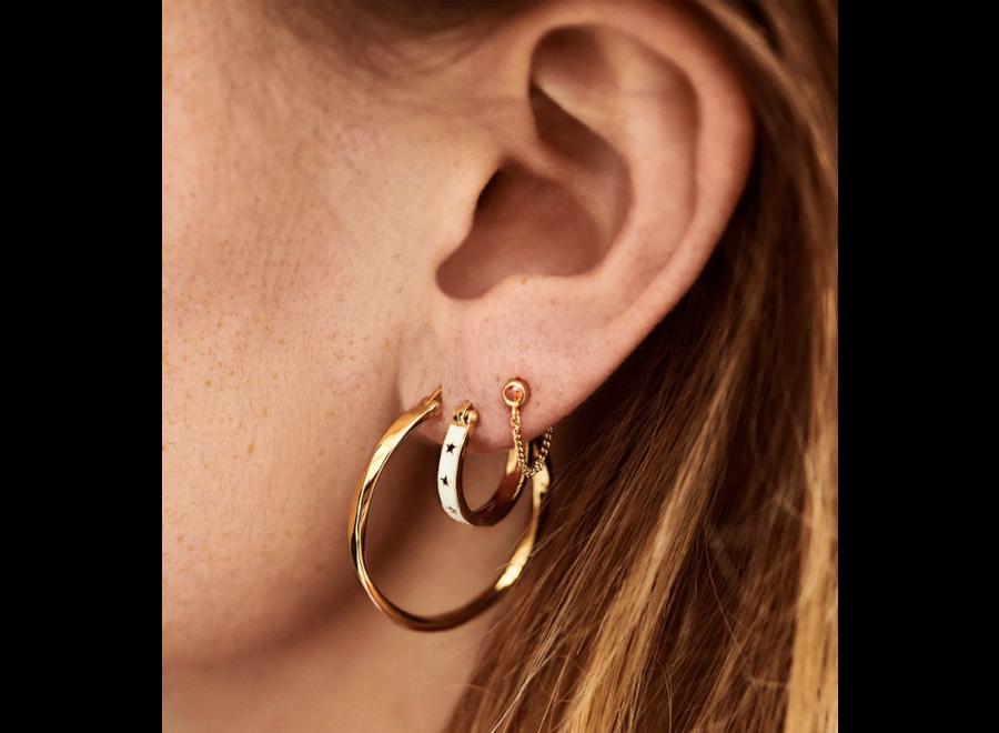 Anna+Nina Dazzling Hoop Earrings