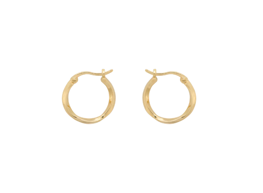 Anna+Nina Dazzling Ring Earrings Goldplated