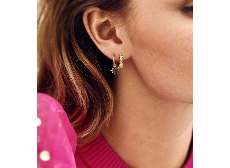 Anna+Nina Single Nova Ring Earring Goldplated