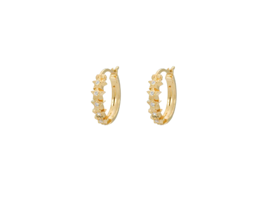Starry Ring Earrings Goldplated