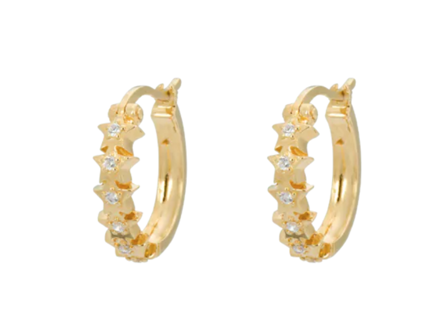 Anna+Nina Starry Ring Earrings Goldplated