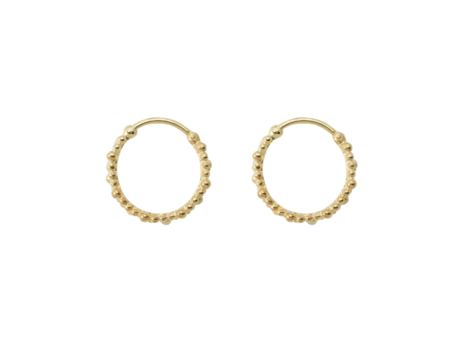 Anna + Nina Cluster Ring Earring Small Goldplated