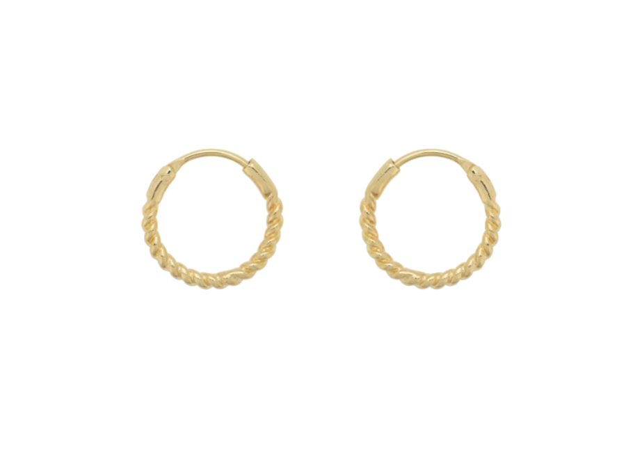 Anna+Nina Rope Earring Goldplated