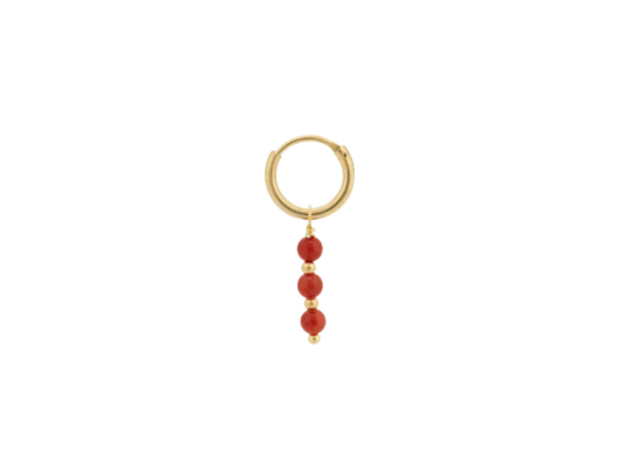 Anna+Nina Single Coral Ring Goldplated