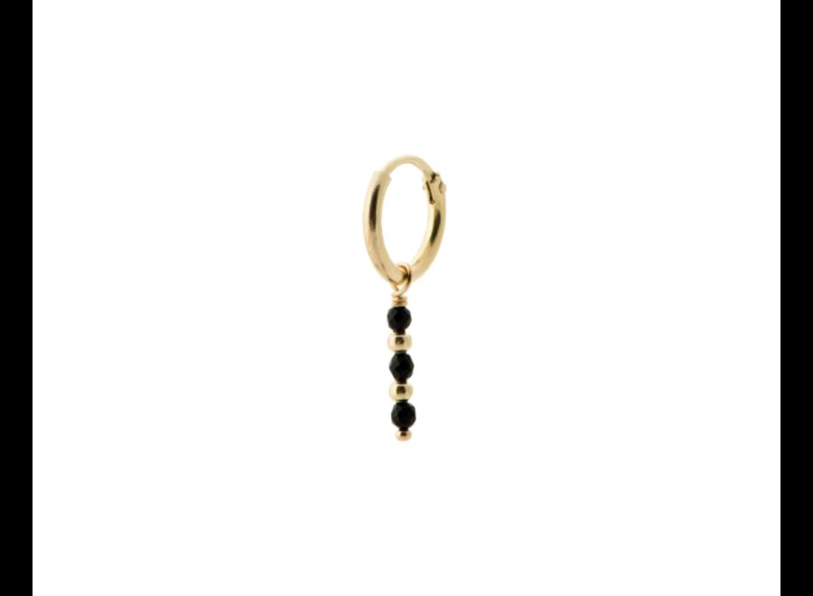Single Meteorite Ring Earring Goldplated