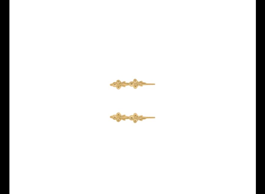 Anna+Nina Eden Hook Earring Goldplated