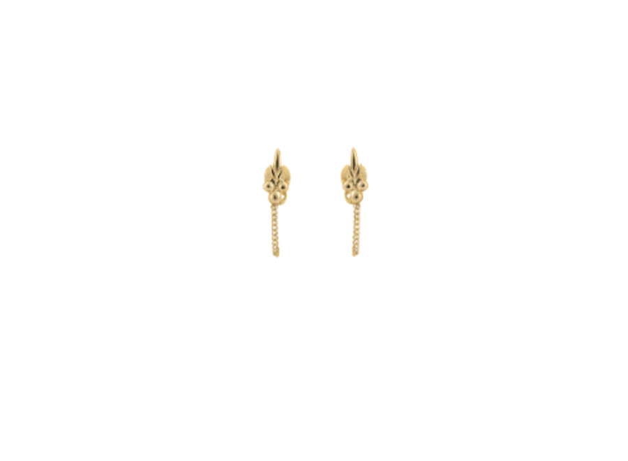 Anna+Nina Eden Chain Earring Goldplated