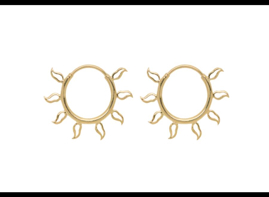 Multi Flame Earring Goldplated