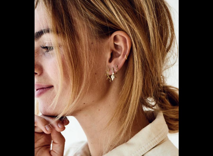 Anna+Nina Multi Flame Earring Goldplated