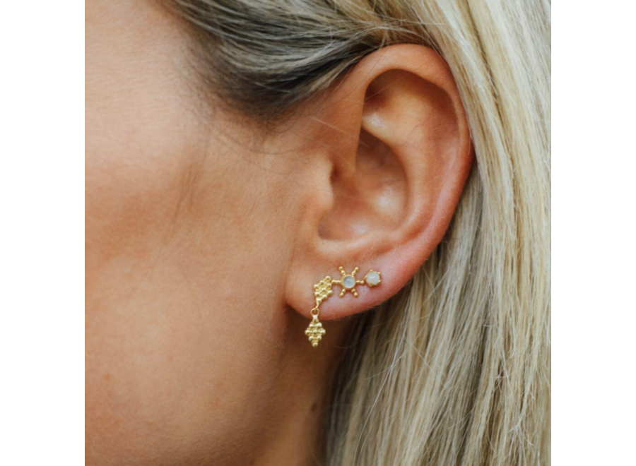 Betty Bogaers Double Dotted Wieber Stud Earring