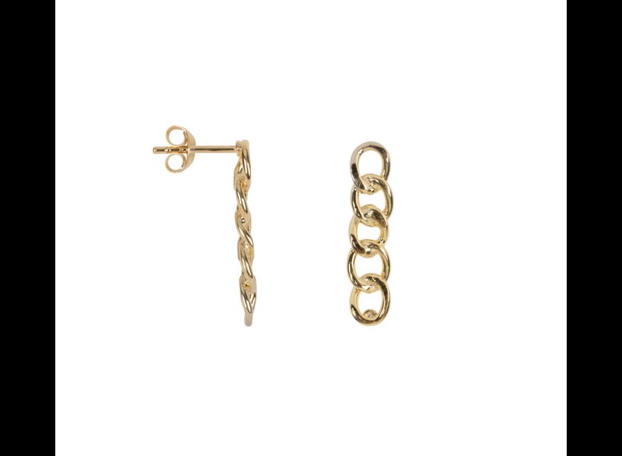 Big Chain Stud Earrings