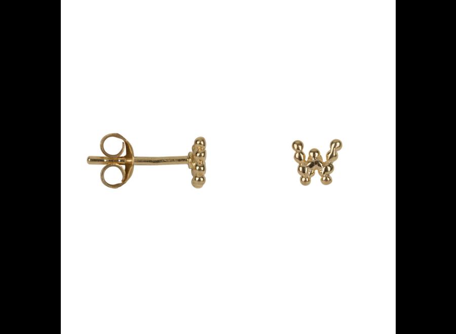 Letter Stud Alphabet W Earring