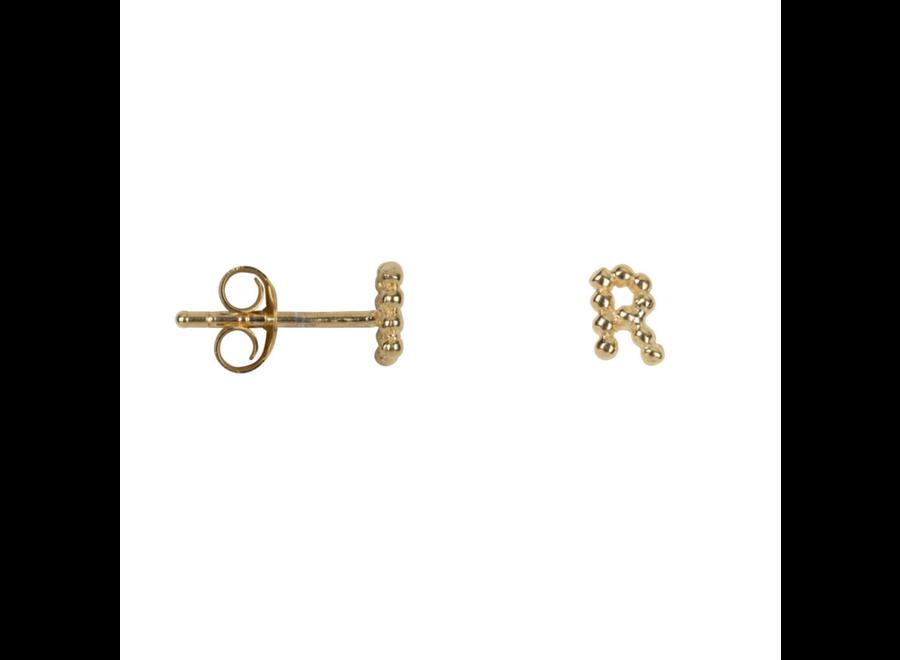Letter Stud Alphabet R Earring