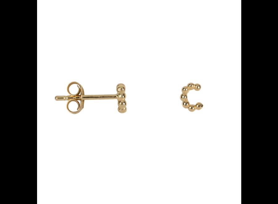 Letter Stud Alphabet C Earring