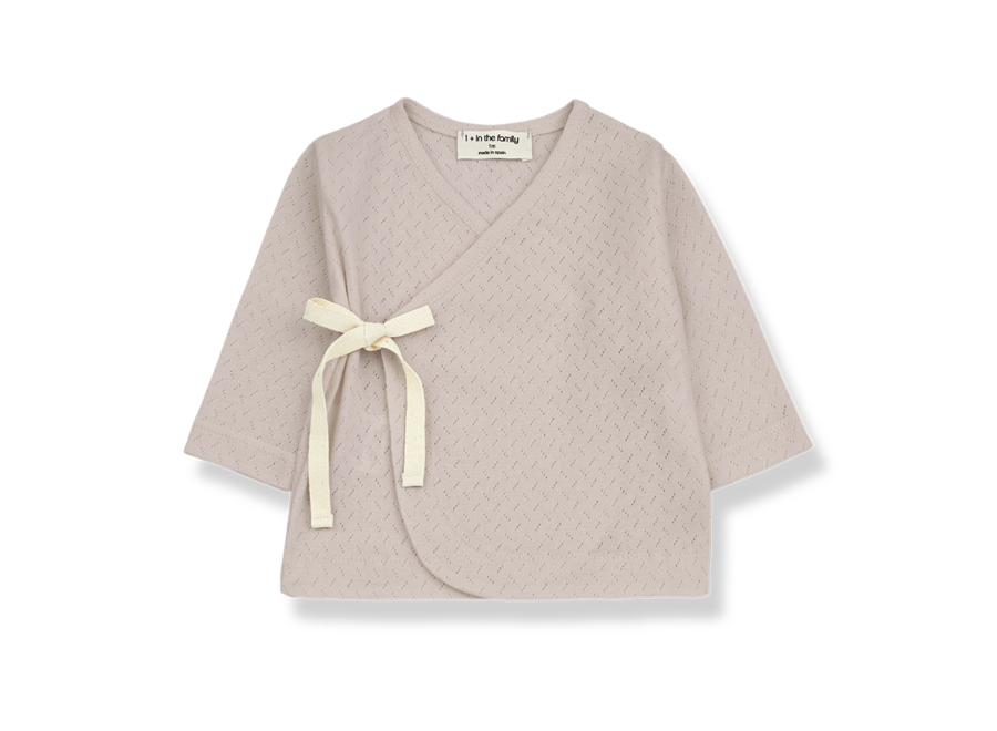 One More in the Family Annie Newborn T-shirt Nude