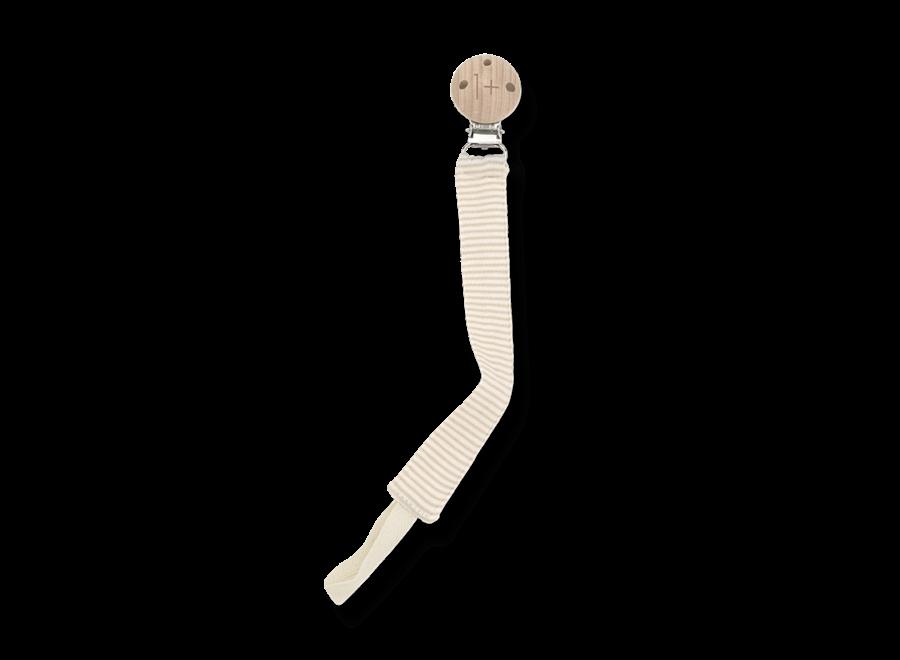 Ada Pacifier Clip Beige