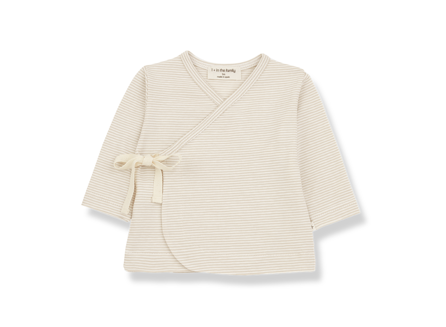 One More in the Family Sol Newborn T-shirt Beige