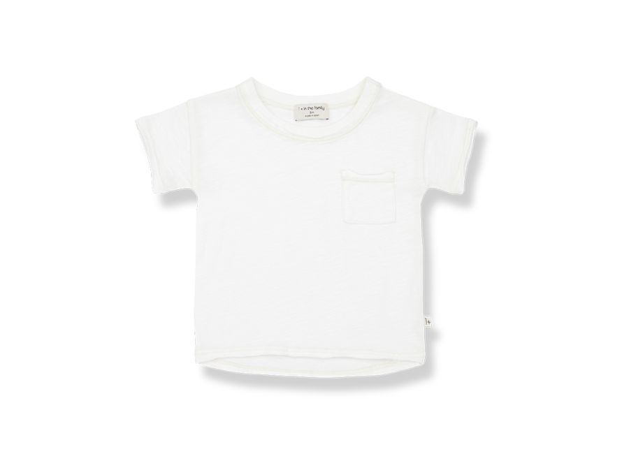 One More in the Family Nani T-shirt Off White