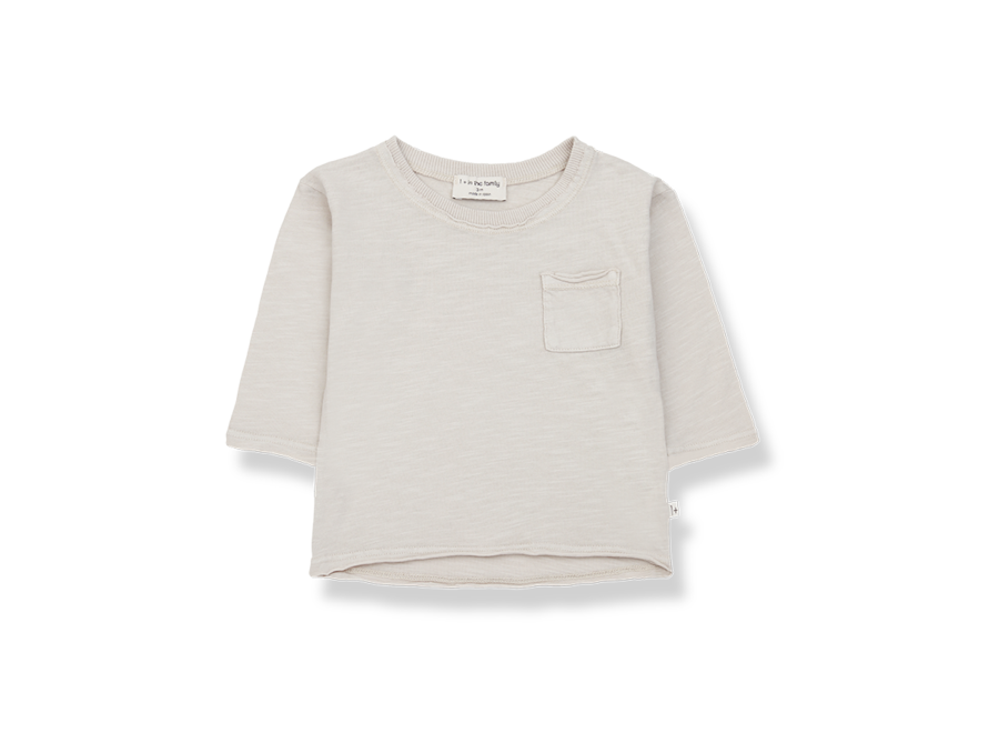 One More in the Family Pere Longsleeve T-shirt Stone
