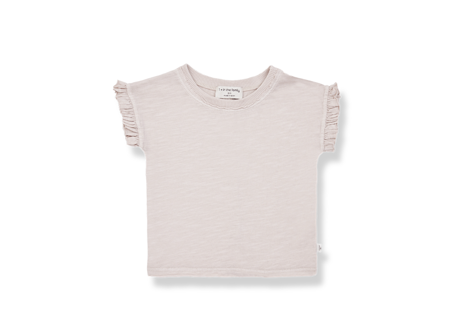 One More in the Family Mireia T-shirt Rose