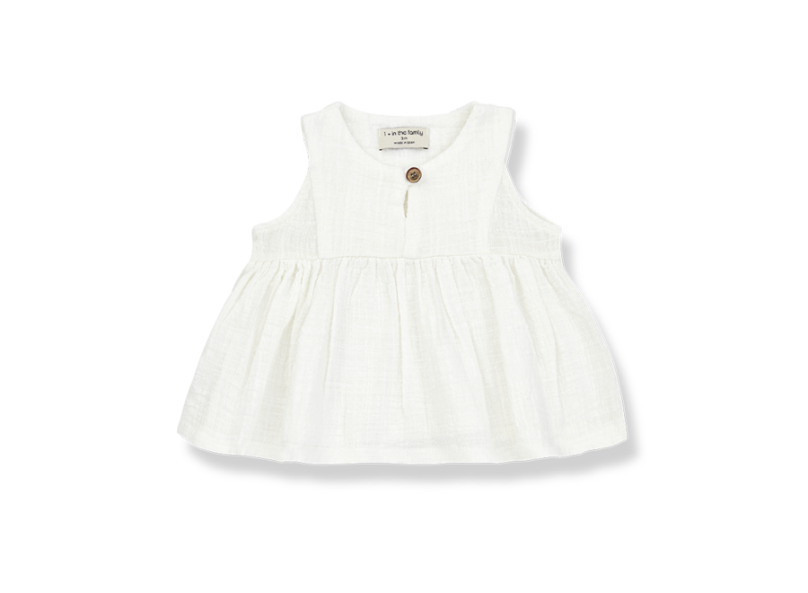 One More in the Family Hilda Sleeveless Blouse Off White