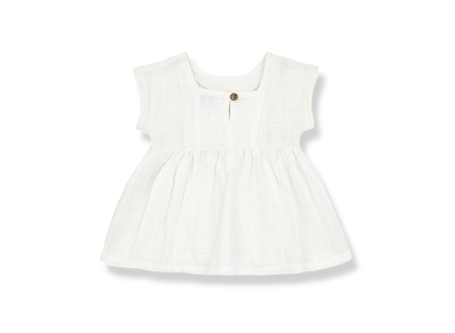 One More in the Family Bruna Dress Off White