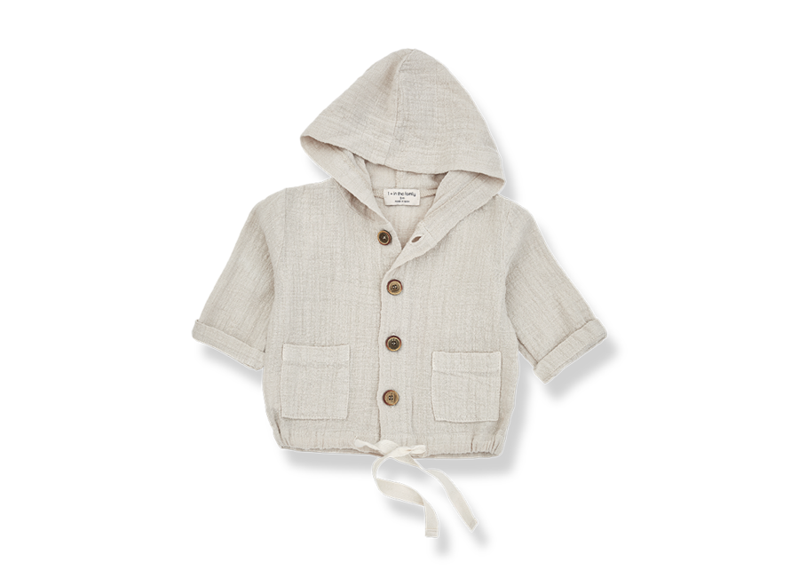 One More in the Family Yago Hood Jacket Beige