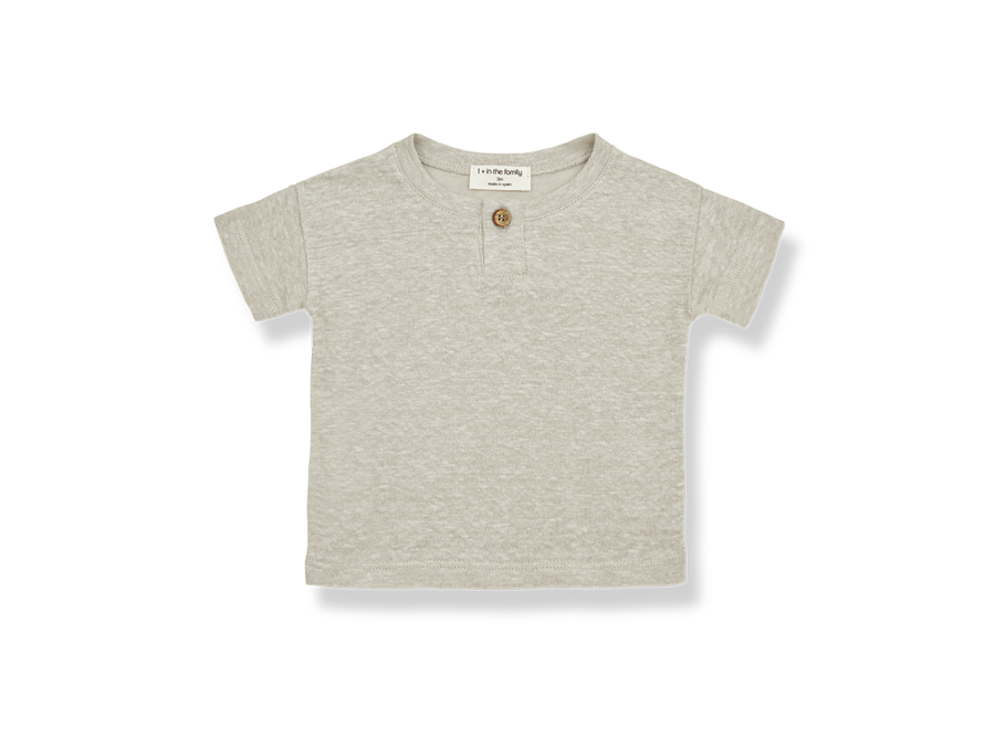 One More in the Family Felix T-shirt Beige