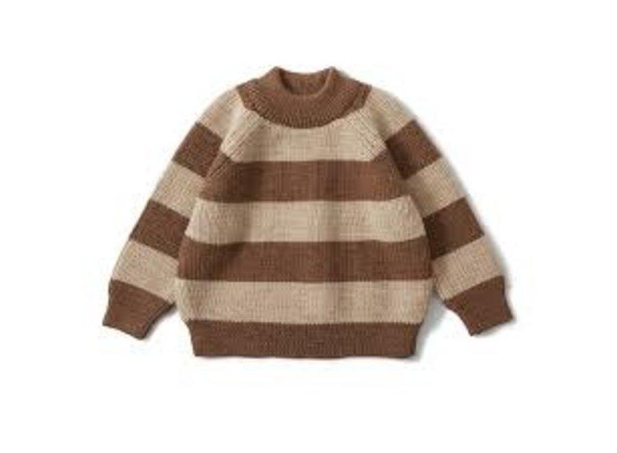 Witum Knit Sweater Almond/Creamy White