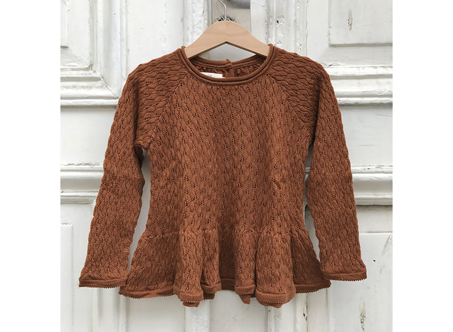 Konges Sløjd Fortun Wol Blouse Toffee