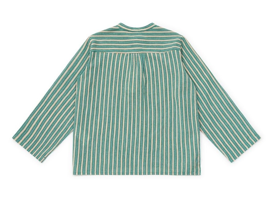 Bonton Chemise Rayure Verte