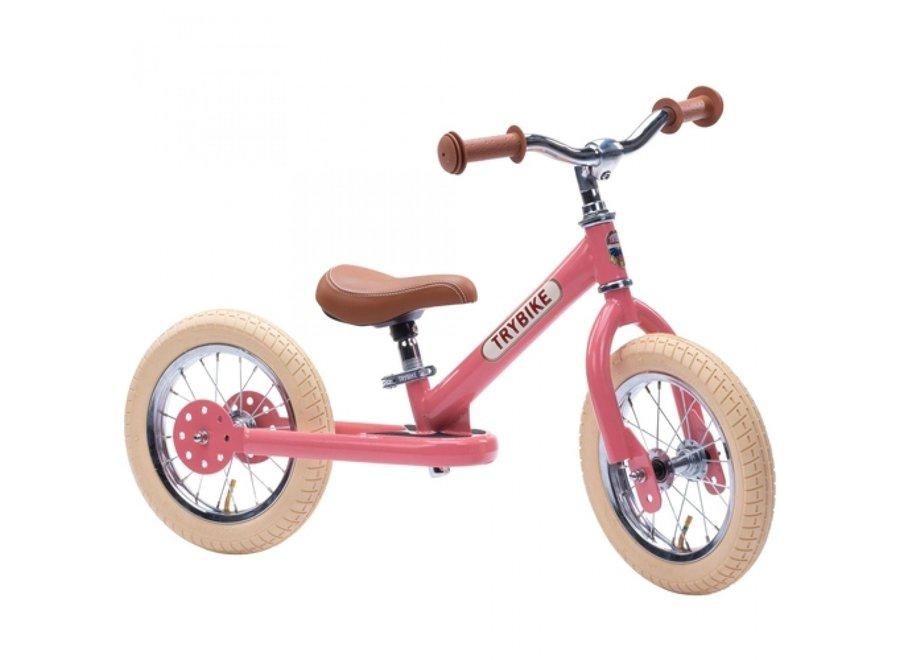 Trybike Steel Loopfiets Vintage Roze