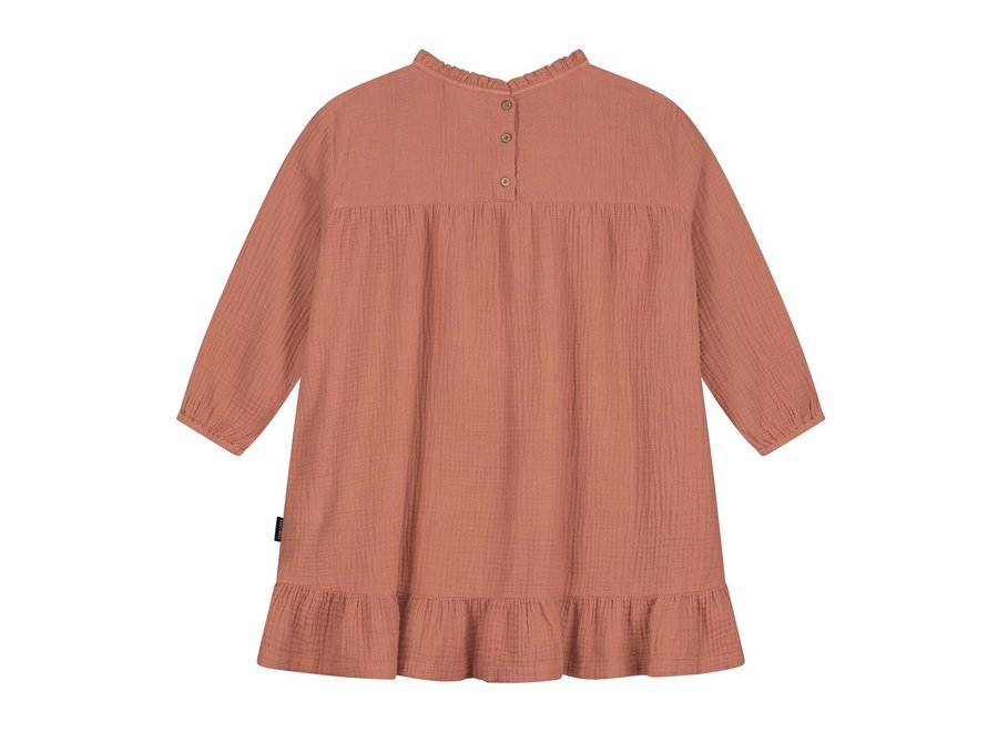 Daily Brat Lois Ruffle Dress Summer Cinnamon