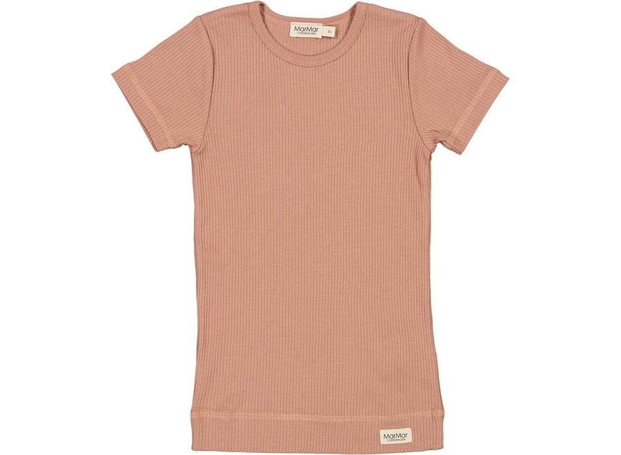 T-Shirt Plain Tee SS Rose Brown