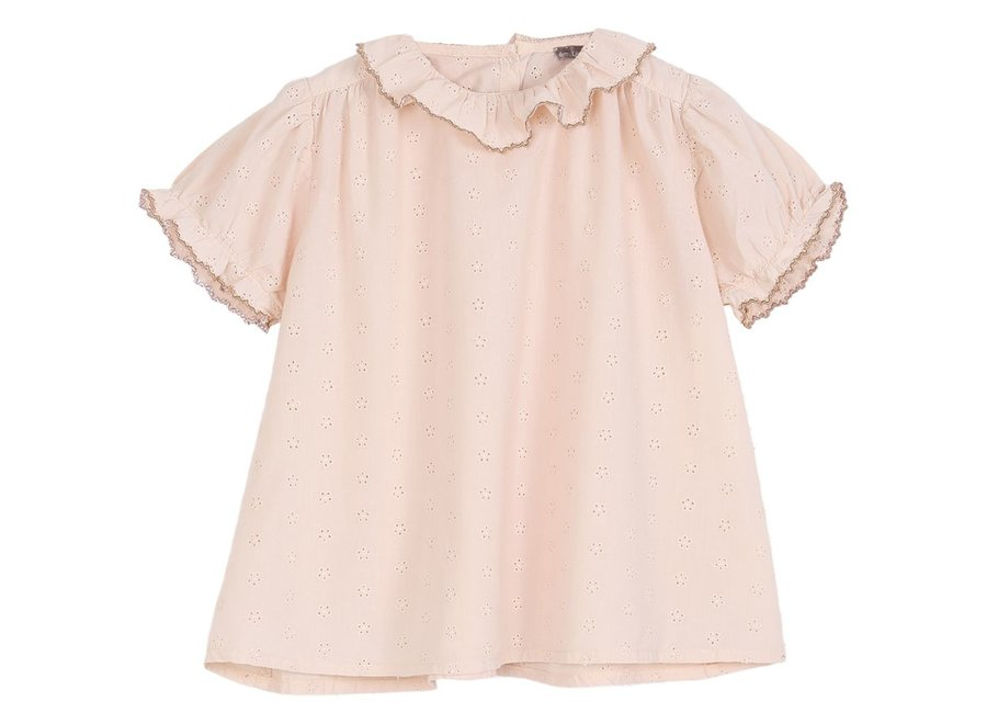 Blouse Rose Broderie