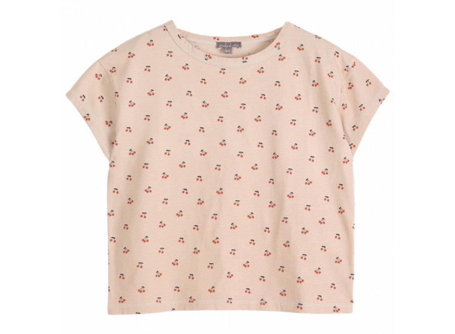 Emile et Ida T-Shirt Creme Cerises